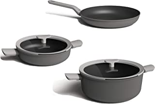 Draining Eurocast Professional Cookware Glass Lids and Venting Oven Proof Pyrex Lids with Patented 3 Dimple Lip for Steaming 11