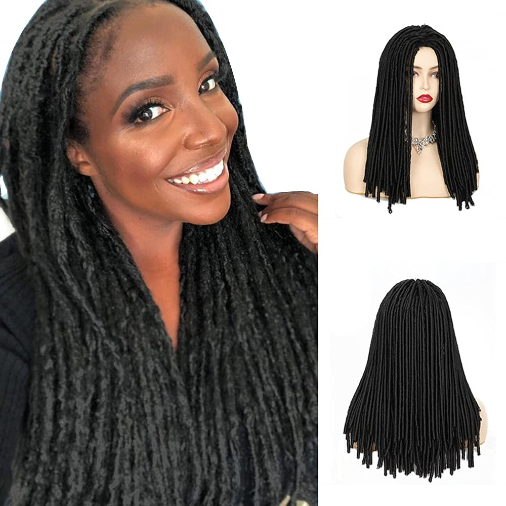YJ-Demand Spring Deluxe Twist Braided Wigs For Or Synth Women Men Free Shipping New Black