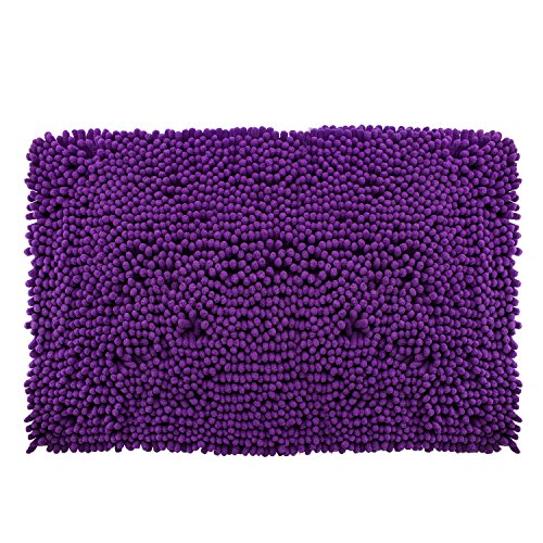 DiB TSC050-1000/103 Tapete de Baño, Shaggy Coral, 50X80 cm, Color Purple