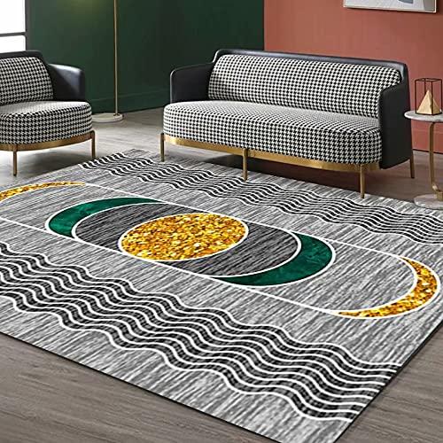 NF Alfombra rectangular HUIPENG para sala de estar, dormitorio, diseño nórdico, moderno, sencillez, antideslizante, alfombra de cocina