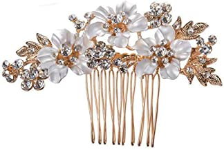 MAYCREATE® Crystal Hair Accessories | Handmade Rhinestone Decorative Bridal | Comb Clip For Wedding Women