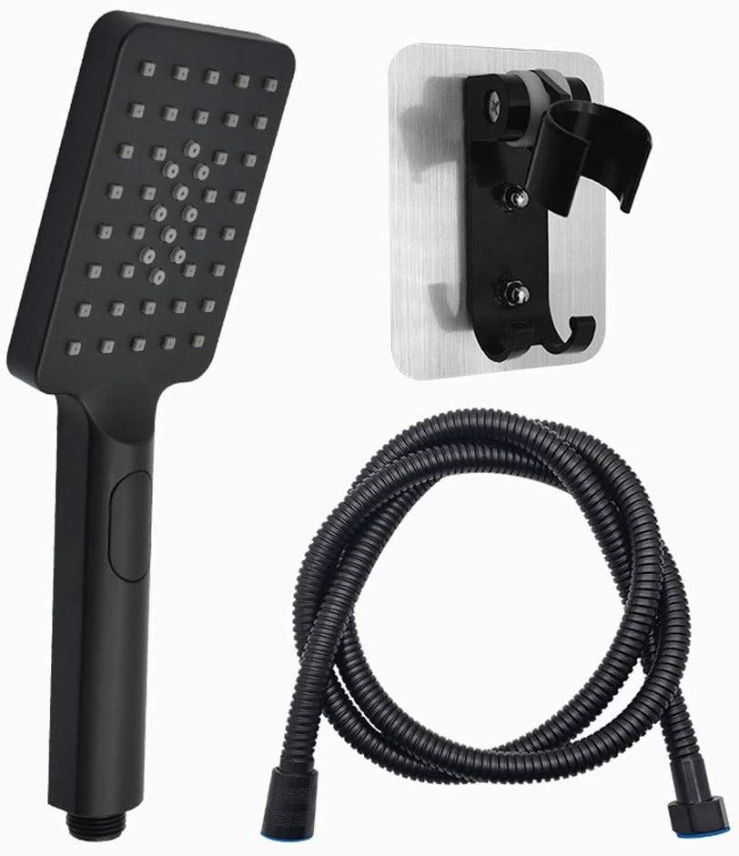 Hand Shower specialty shop Bathroom Oklahoma City Mall Black H Three-Speed Rain Pressurized