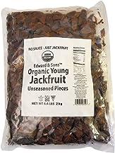 Edward & Sons Organic Vegan Meatless Alternative Young Jackfruit, Unseasoned, 4.4 Pounds