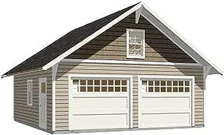 Garage Plans : 2 Car Craftsman Style Garage Plan - 576-14 - 24' x 24' - two car - By Behm Design
