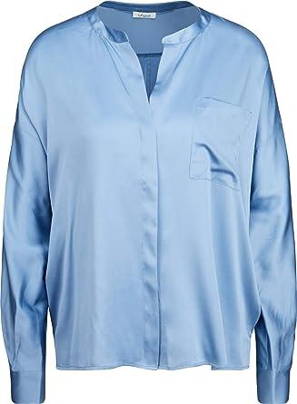 IHEART - Blusa de Seda para Mujer, Color Azul Claro 601 Blau ...