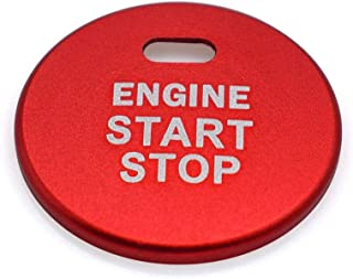 Ceyes Red Engine Start Stop Button Cover Auto Ignition Start Stop Button Trim Ignition Switch Button Sticker Push Button Switch Cover Sticker for Subaru Forester Legacy Impreza Outback Ascent BRZ XV
