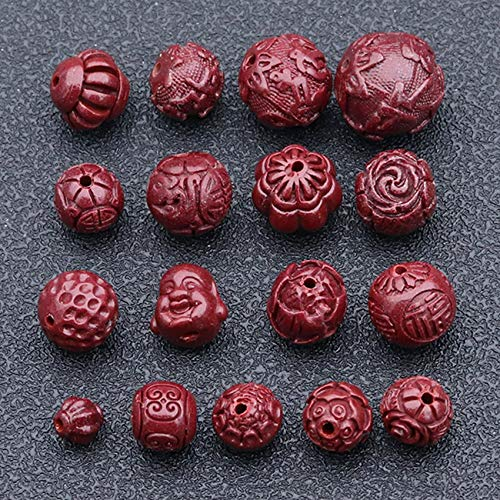 Natural Genuine Purple Sand Round Bead Loose Beads Lucky Spacer Feng Shui Chinese Gifts for Bracelets DIY Crafts Jewelry Making Charms Bulk Accessories Necklaces for Wealth,Buddha