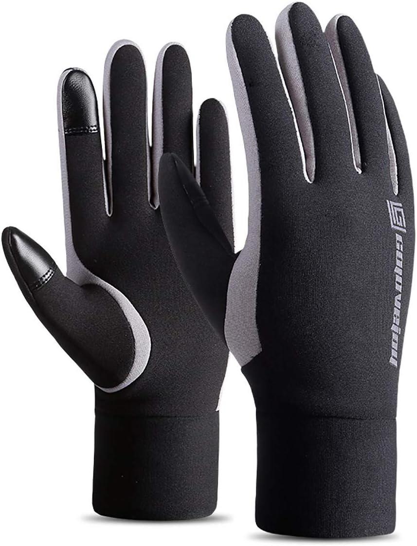 Lupovin-Keep Warm Winter Mitten Quick Touch Screen Raincoat Motorcycle Ski Gym Gloves Men Women Non-Slip (Color : M)