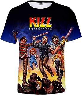 tee Shirts Unisex Camisetas Verano Casual Manga Corta T-Shirts Moda Suave Cuello Redondo Pullover Short Sleeve Hombre Mujer HD Patrón Hipster Sudadera Vest Top Kill Destroyers XXS-3XL