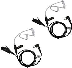 هدست AIRSN 2 پین گوش برای موتورولا CP200 ، GP300 ، CLS1110 ، CLS1410 Walkie Talkies / رادیو دو طرفه با لوله صوتی شفاف (بسته 2)