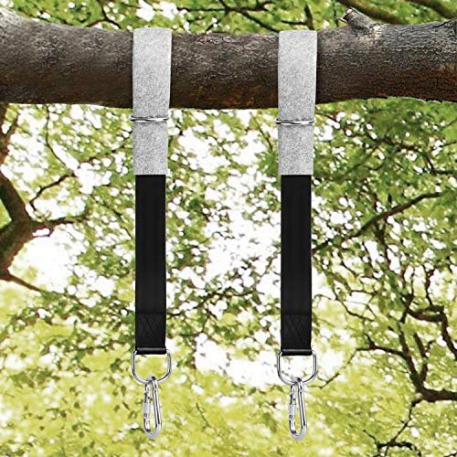 Tree Swing Straps, 300cm Extra Long Hammock Tree Straps with 2 Tree Protectors Pads + 2 Carabiners + 1 Carrying Bag, Holds 1000KG, Ideal for Tire, Swings and Hammocks
