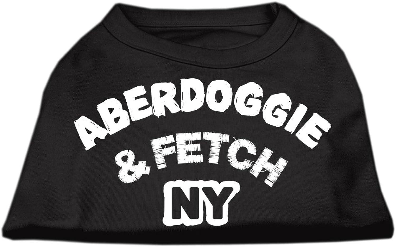 Mirage Pet Products 16Inch Aberdoggie NY Screenprint Shirts, XLarge, Black