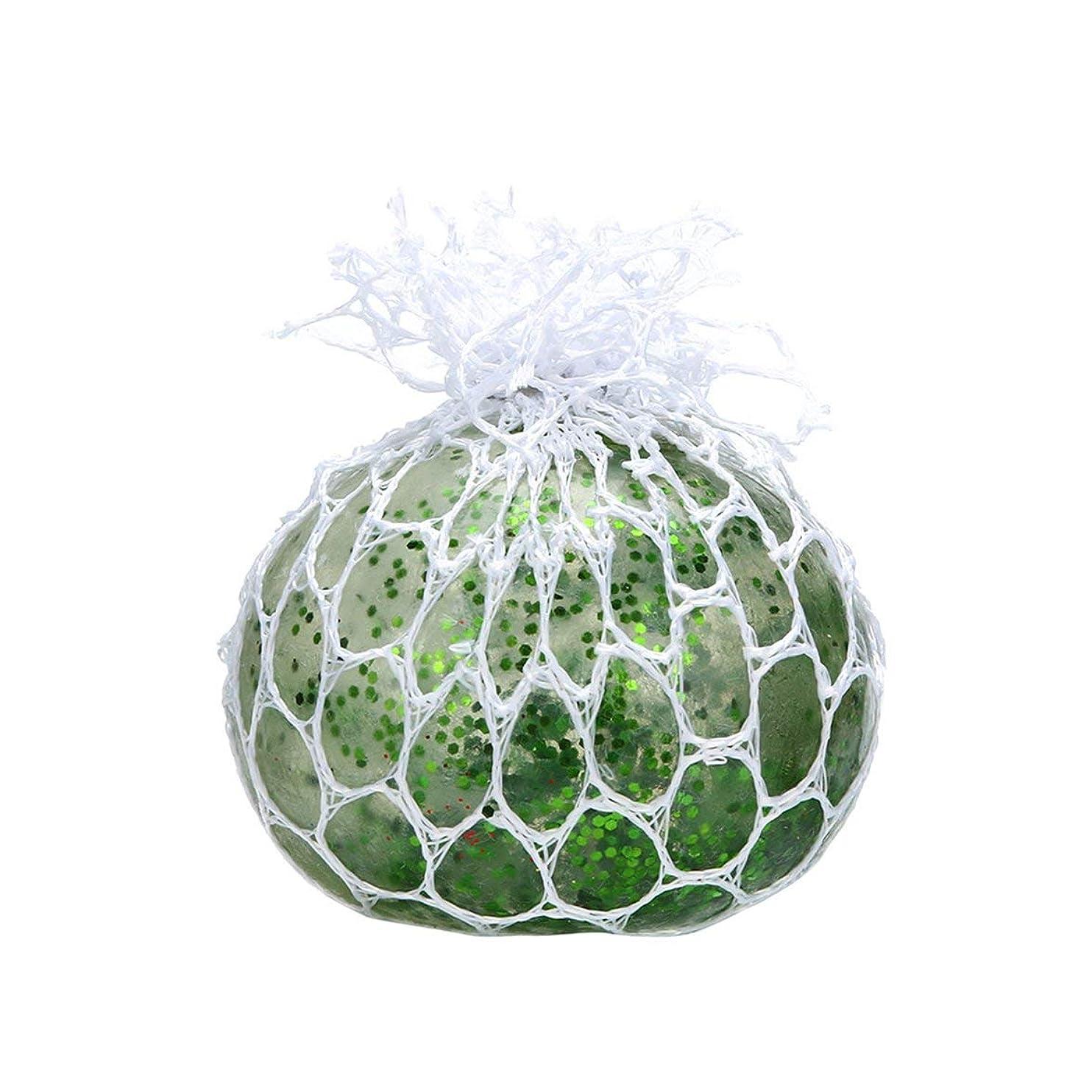胆嚢架空のスキップストレスリリーフボールNovetlyスクイーズボールハンドリスト運動抗ストレススライムボールグッズ面白いガジェットおもちゃ-グリーン