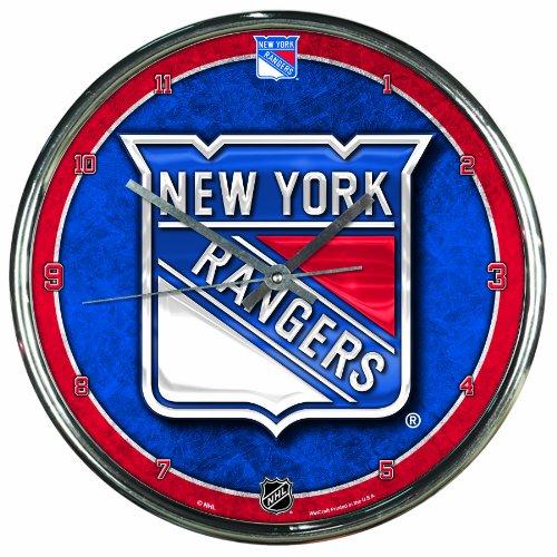 NHL New York Rangers Chrome Clock, 12