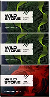 Wild Stone 2 Forest Spice Soap 125GM and 1 Ultra Sensual Soap 125GM