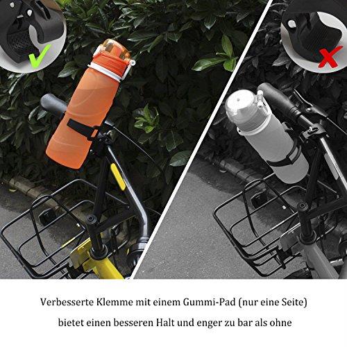 PAMASE 2 Stücke Fahrrad Flaschenhalter Schwarz Klemme mit Gummi-Pad Flaschen Cage Verbesserte Bike Water Bottle Holder - 5