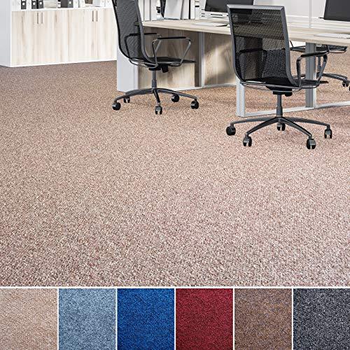 Floori® Nadelfilz Teppich, GUT-Siegel, Emissions- & geruchsfrei, wasserabweisend | Viele Farben & Größen (500x200 cm, beige)
