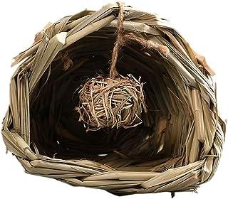 Gniazdo dla chomika trawa Finch klatka schronienie kryjówka tunel do gry w piłkę do żucia zabawka szczur siedlisko odpoczy...