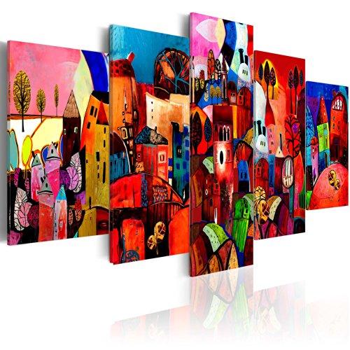 murando Cuadro en Lienzo Colorido Arte 200x100 - Impresión de 5 Piezas Material Tejido no Tejido Impresión Artística Imagen Gráfica Decoracion de Pared 051447