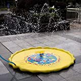 HALOFUN 67in-Diameter Sprinkle and Splash Play Mat for Kids Summer...