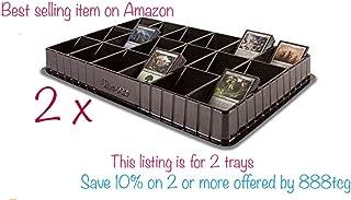 2 Black Ultra Pro TCG CCG Sports Trading Card Sorting & Dealer Tray (18 Slot)