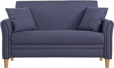 Amazoncom Divano Roma Modern 2 Tone Small Space Linen Fabric