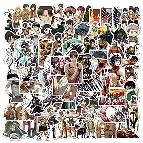 SHUYE Anime Attacking Giant Graffiti Stickers Funda para teléfono Monopatín Maleta Pegatinas Impermeables 100 Hojas