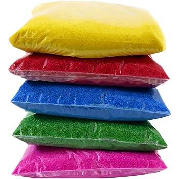 Ascension ® Design Creativity Diwali Floor Rangoli Art 5 Multicolour Rangoli Powder 80g Each Pack Ceramic Colours Rangoli Powder Colors Rangoli Making Kit or Navratri Pongal Pooja Mandir