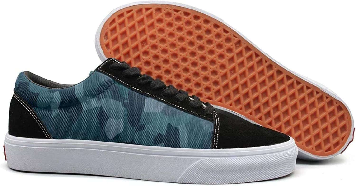 Navy Desert camo Womens Lace up Canvas shoes Canvas Upper