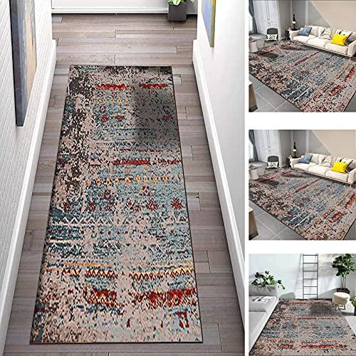 QQXY Alfombras Cocina por Metros Lavables Antideslizante Pelo Corto alfombras pasilleras para Pasillo Salón Cocina Baño Lavadero