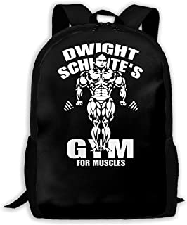 Dwight Schrute's Gym For Muscles Man Woman Fashion Backpack Boy Women's Fashion Canvas 3D Print Leisure Hiking Backpack