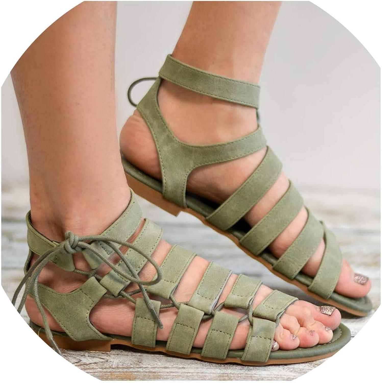 Women Sandals Plus Size Gladiator Sandals 2019 Summer shoes Woman Beach Flat Sandals shoes Ladies