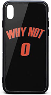 WHY NOT #0 Basketball MVP Phone Case for iPhone X/XS TPU Gel Protective Best Anti-Scratch Fashionable Glossy Anti Slip Thin Shockproof Soft Case