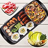 Portable Dual-Purpose Barbecue Grill Hot Pot, 2 in 1 Multi-Function Separation Master Pot Hot Pot Fryer Grill Pan Non-Stick Grill Roasting Pan BBQ for Indoor Outdoor