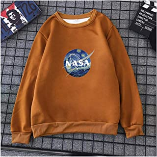 NASA Long Sleeve Pullovers, Sweatshirt Colorful Baggy Tops, Long Sleeve Casual Sweatshirt, Clothes Teens Girls Boys