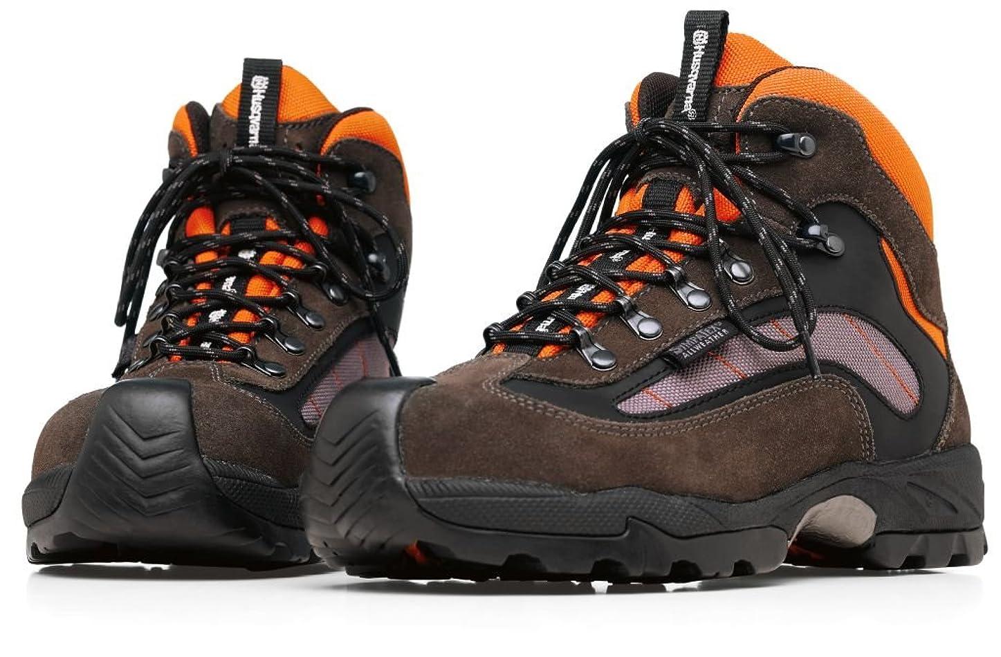 何もないリズミカルなローンハスクバーナ ブーツ テクニカル 575354742 合成樹脂製トゥキャップ入り オレンジ/グレー/黒 42 (26.5cm)