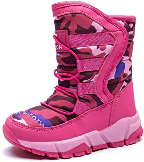 Rose town Childrens Outdoor Sports Shoes Waterproof Anti-Skiing Boots Toddler//Little Kid//Big