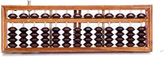 THY COLLECTIBLES Vintage-Style 13 Rods Wooden Abacus Soroban Chinese Japanese Calculator Counting Tool w/ Reset Button 9.75""