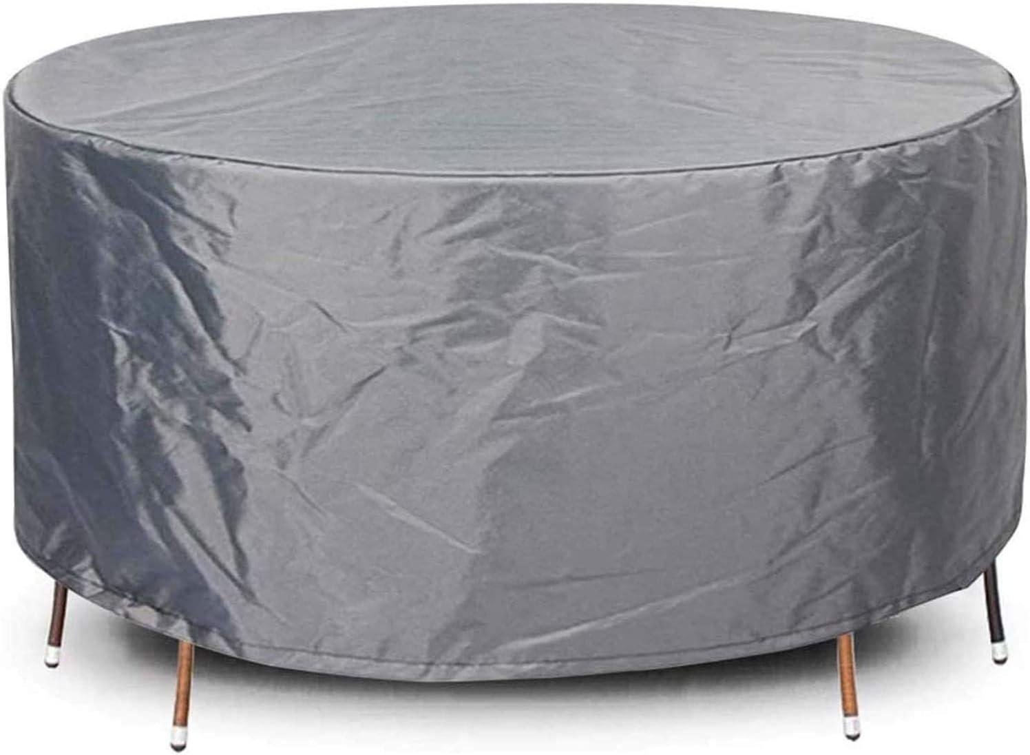 QIAOH Round Garden Furniture Covers Patio Max 73% OFF 45x24in Fu Milwaukee Mall Waterproof