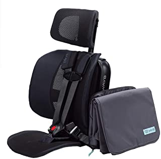 WAYB Pico Travel Car Seat with Carrying Bag - Lightweight, Portable, Foldable - Perfect for Airplanes, Rideshares, and Roa...