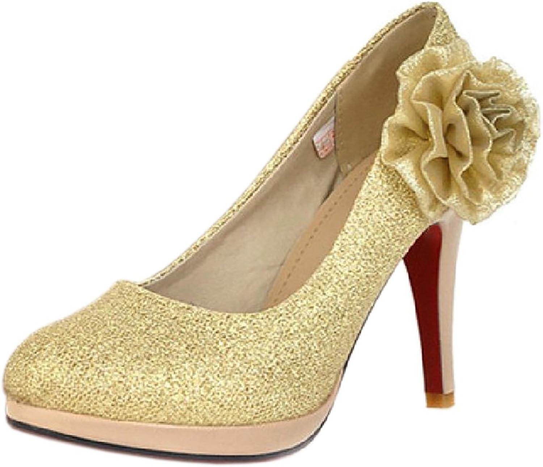 TAOFFEN Women's Slip On Party Court shoes Heels