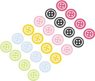 SOIMISS 150Pcs Colorido Botões de Resina Botões 4 Furos Redondos Botões de Costura Botões Da Mistura para As Artes DIY Cos...