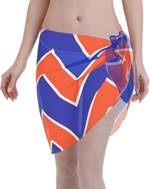 Gator Chevron Throw 2 Women Chiffon Beach Cover ups Beach Swimsuit Wrap Skirt wrap Bathing Suits for Women