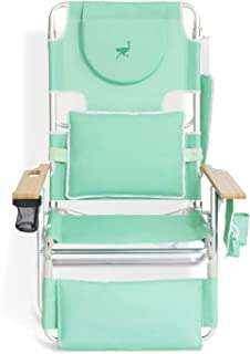 Ostrich Deluxe Padded 3 N 1 Lightweight Portable Adjustable Outdoor Folding Reclining Chair for Lawn Beach Lake Camping Lo...