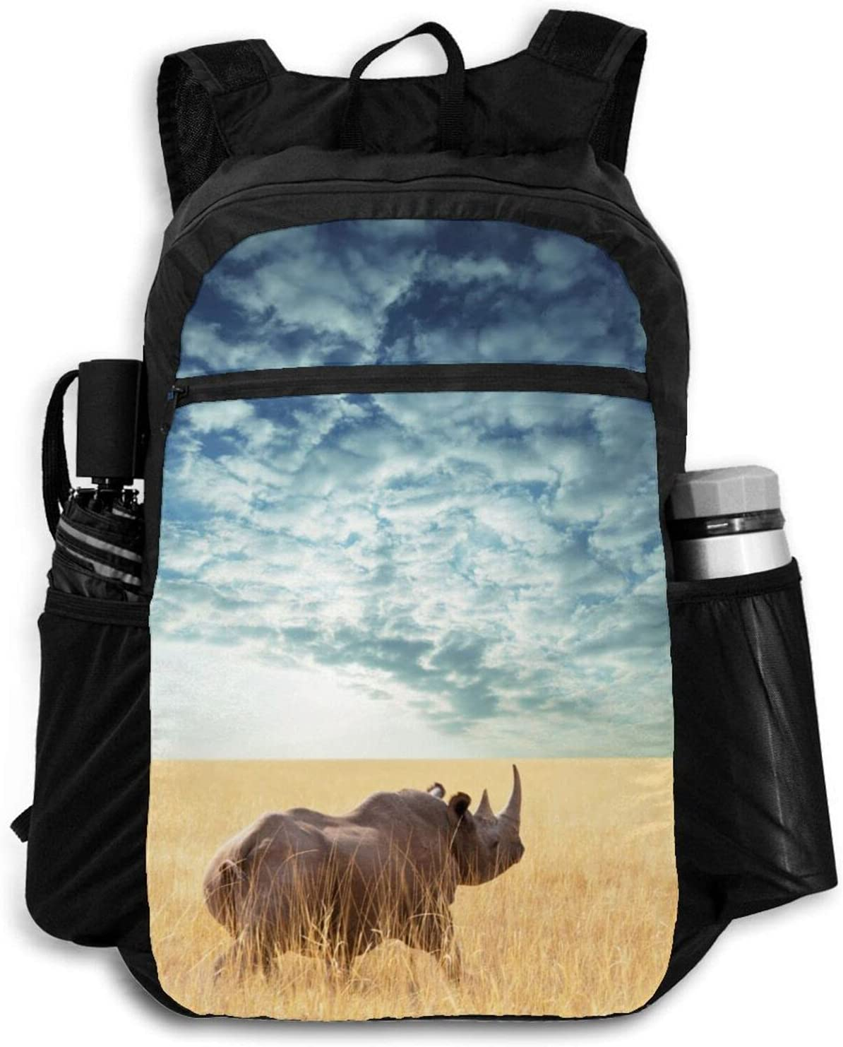 Zolama Ranking TOP2 Rhino Rhinoceros Backpacks for Men Cute Packable Da Inventory cleanup selling sale Women
