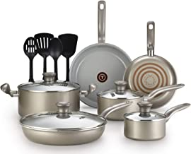 T-fal G919SE64 Initiatives Ceramic Nonstick Dishwasher Safe Toxic Free 14-Piece Cookware..