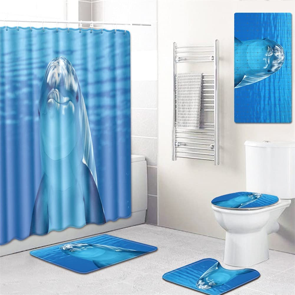 Waterproof Breathable Shower Curtain Sales for sale Denver Mall Sets Rugs Dolphin with Prin