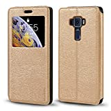 Asus Zenfone 3 ZE552KL Case, Wood Grain Leather Case with