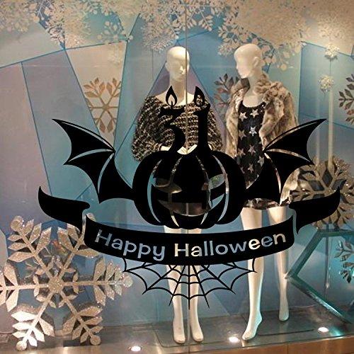 Pegatinas decorativas de pared de PVC para Halloween, diseño de murciélago, color negro, regalo para niños