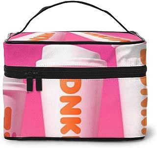 Dun-kin Do-nuts Coffee Drink Rectangular Cosmetic Travel Bag Makeup Storage Toiletry